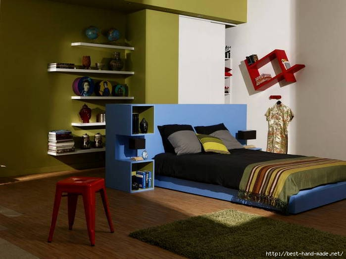 Green-teen-room-with-blue-bed (700x524, 136Kb)
