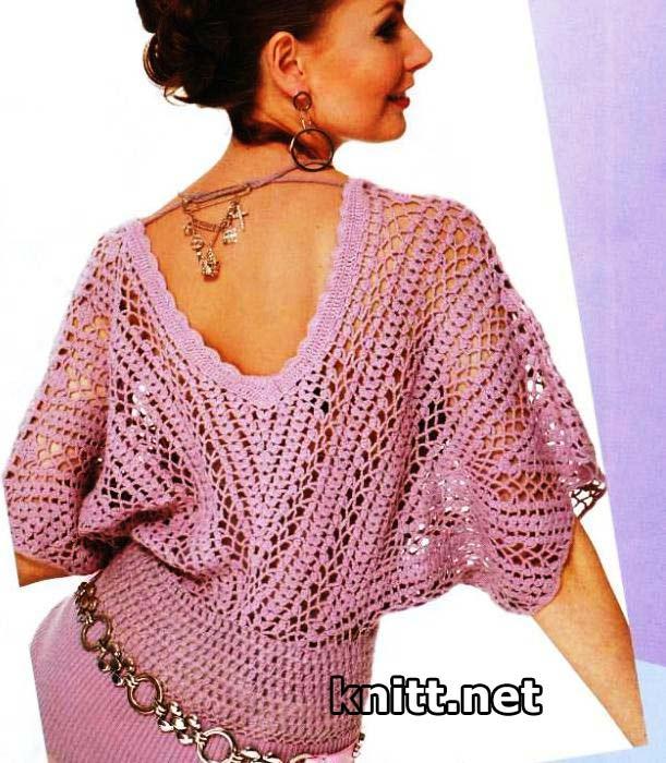 Вязані Кофточки Топи Блузки Гачком