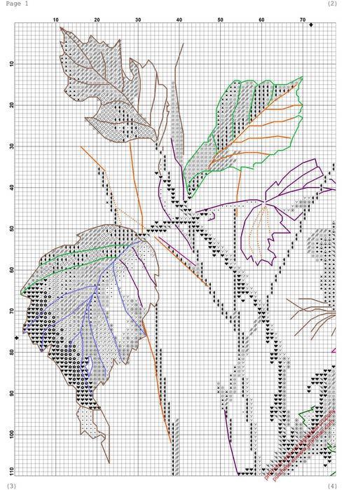 Мышонок(вышивка крестом,схема)