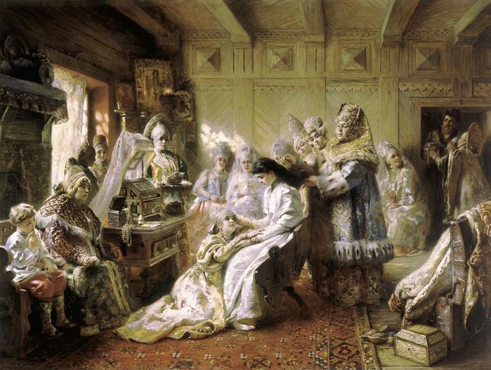 The_Russian_Bride's_Attire_-_Konstantin_Makovsky (700x526, 188Kb)