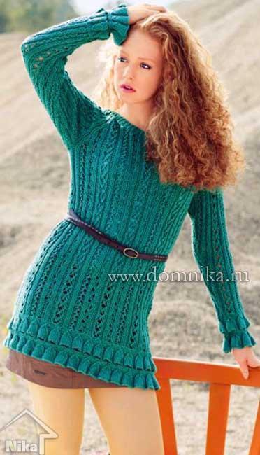 Журная вязания сабрина туника