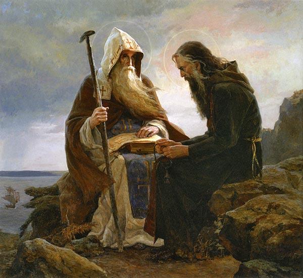 Сайда Афонина - Антоний и Феодосий Киево-П (600x551, 67Kb)
