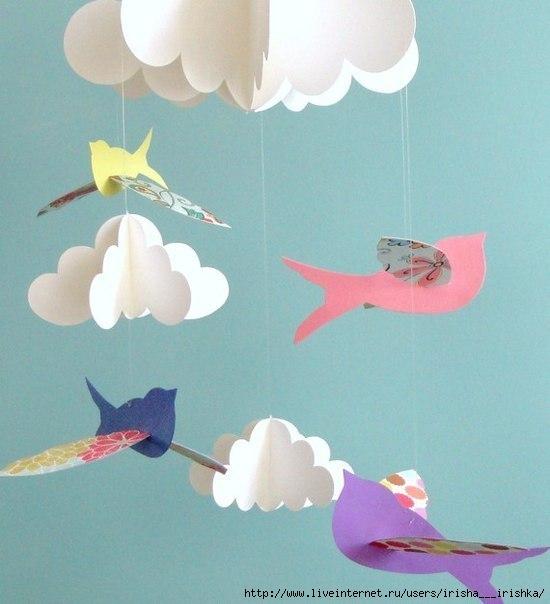 Почти всем деткам нравятся поделки из цветной бумаги, можно делать аппликации, объёмные поделки...