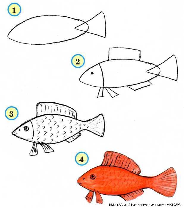 Простые и интересные схемки рисунков - уроки рисования.  Продолжение.