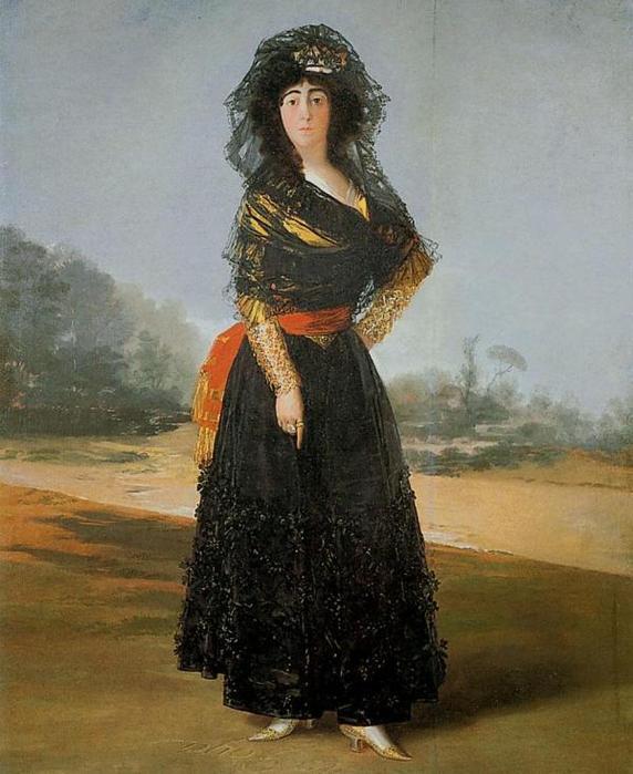 Герцогиня Альба в черном 1797, Испанское общество Америки, Нью-Йорк (572x700, 57Kb)
