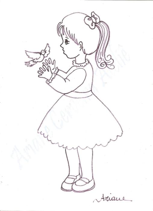 Шаблоны рисунка девочки