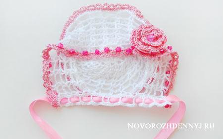 Метки: чепчик. платье вязание