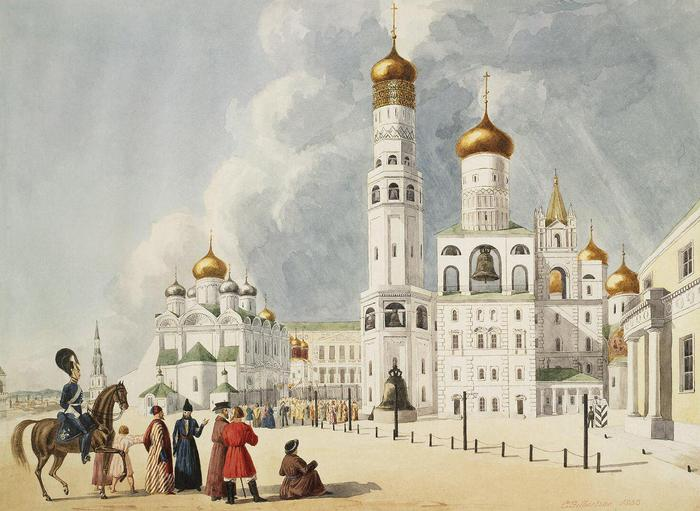 1358991541_Gilbertson_E__Ivan_the_Great_BellTower_and_Archangel_Cathedral_in_the_Moscow_Kremlin___22d60a7b3e7c (700x511, 58Kb)