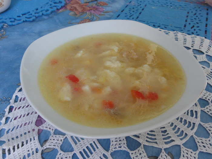 Рецепт: Итальянский суп с сырными клецками