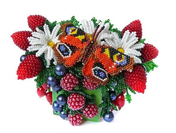или пошагово украшения из бусин ибисера ягоды-фрукты как говорится, нет