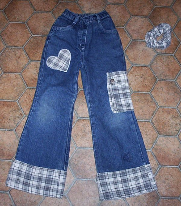 Как удлинить детские джинсы для мальчиков пошагово