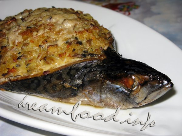 фаршированная скумбрия в духовке рецепт с фото