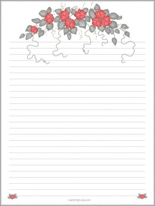 рисунки для бумажных писем