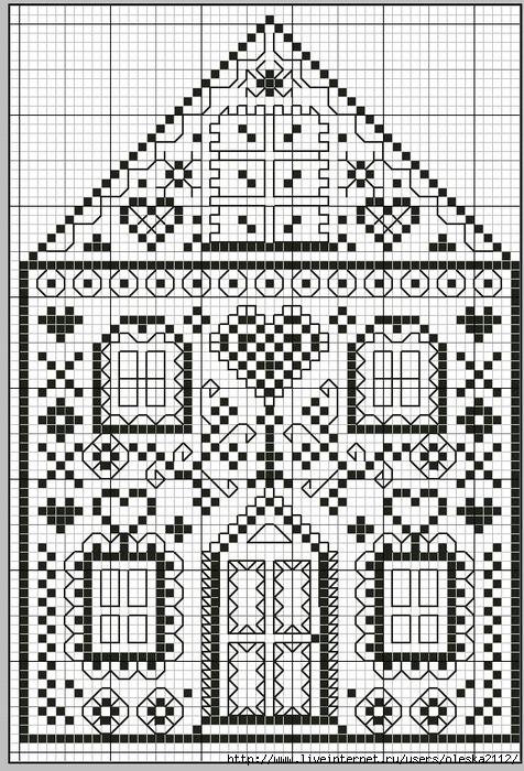 Имбирный дом схема вышивки 30