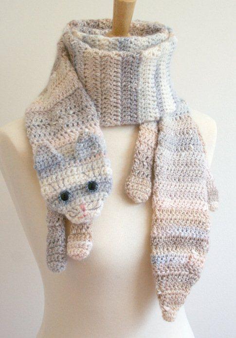 7-шарф в виде полосатого кота