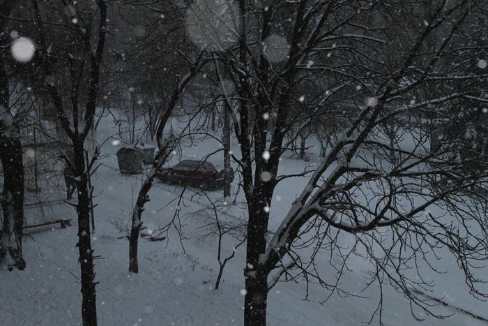 Зима вечер (700x467, 183Kb)