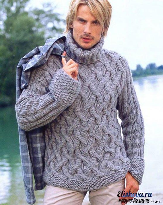 Вязаные свитера спицами со схемами 10