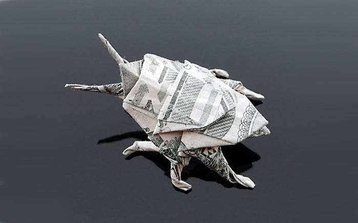 оригами из денег фото (700x437, 61Kb)