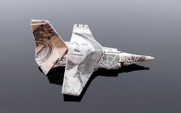 оригами из денег фото 2 (700x437, 110Kb)