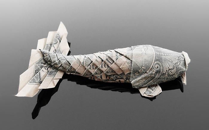 оригами из денег фото 7 (700x437, 73Kb)