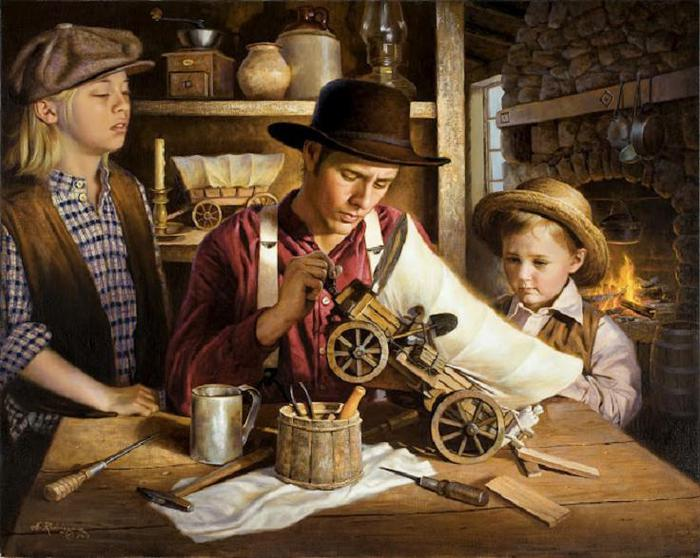 Alfredo Rodriguez.The Toy Wagon Maker, by (700x558, 69Kb)