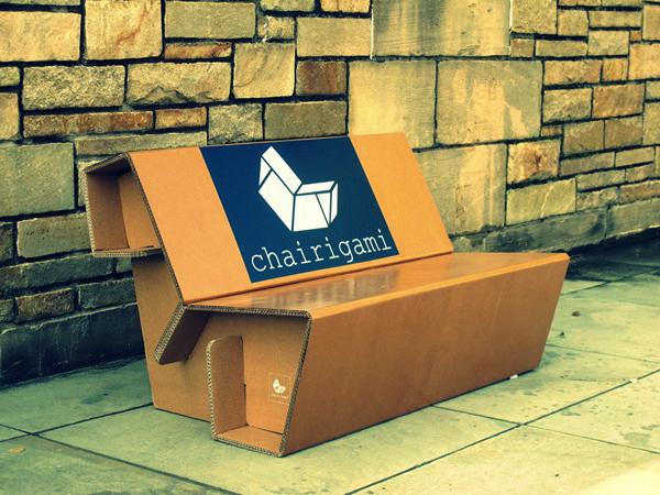 мебель из гофрированного картона Chairigami 6 (600x450, 301Kb)