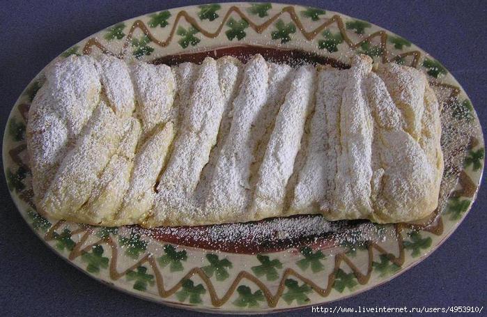 Пирог из слоеного теста, с манго-банановой начинкой (700x455, 204Kb)