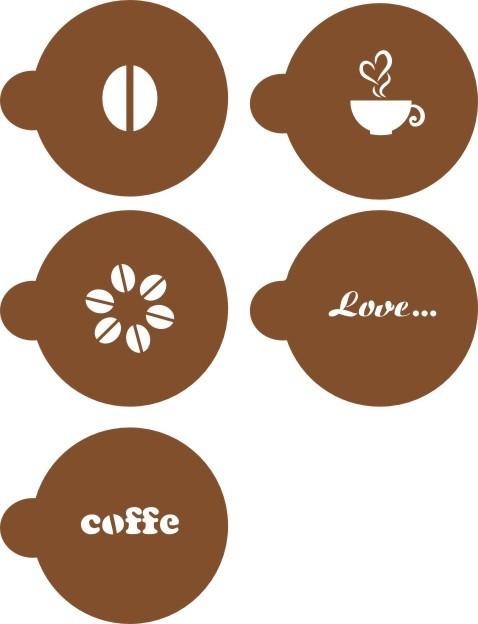 Трафареты для кофе шаблоны