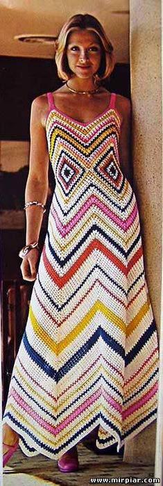 Просто шикарное вязаное платье зигзаг 2 (235x700, 51Kb)