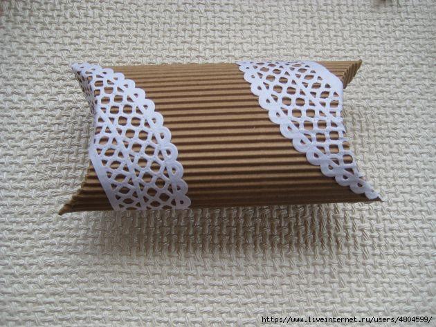 Коробка из гофрированного картона своими руками