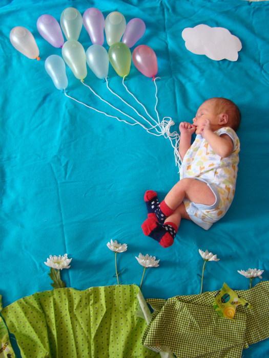 1 месяц ребёнку идея для фото
