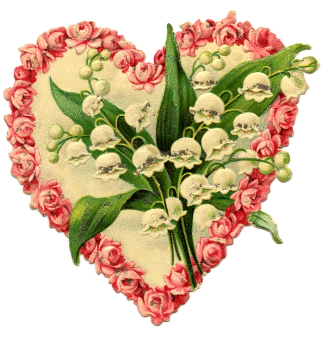 heart floral vintage Image GraphicsFairy010b (658x700, 266Kb)