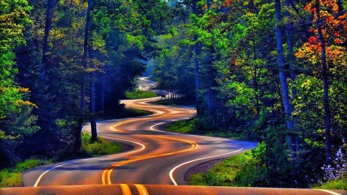 Дорога Норспорт, США, Висконсин (700x393, 116Kb)