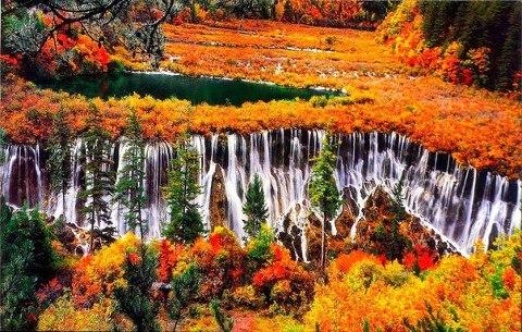 Осень в Национальном Парке Цзючжайгоу, Сычуань, Китай (480x305, 72Kb)
