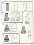 Моделируем юбки.  Схемы выкроек юбок.