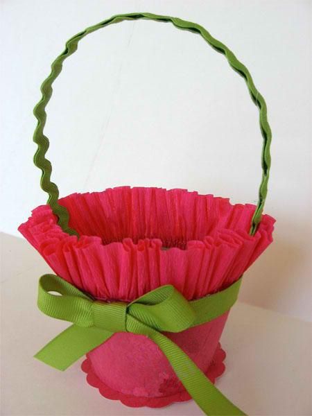 Корзинка для цветов своими руками пошагово