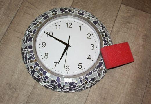 Мозаичные часы. Как сделать необычную рамку для настенных часов