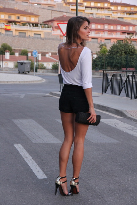 Altas sandalias sexy