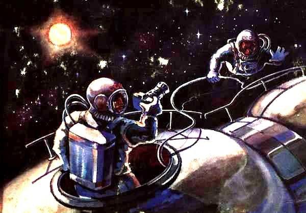 КОСМОС И ЧЕЛОВЕК на картинах Алексея Архиповича Леонова, лётчика-космонавта, дважды Героя СССР. Картины и Репродукции