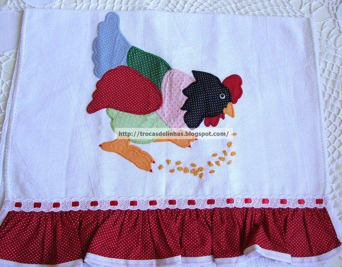 Аппликация на махровом полотенце своими руками