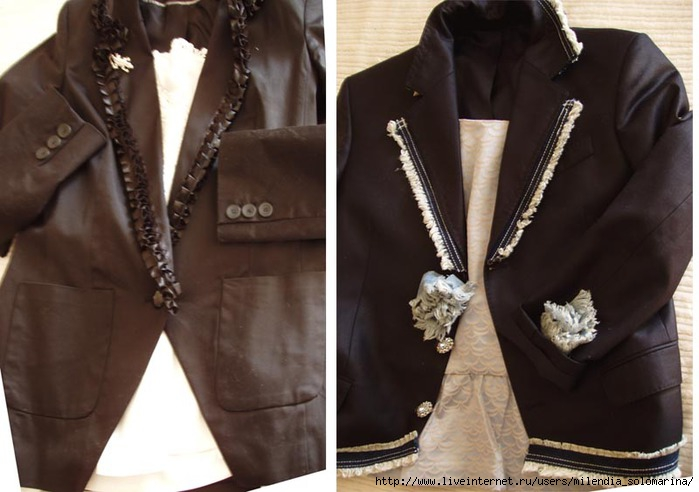 Украшение женского пиджака своими руками 44