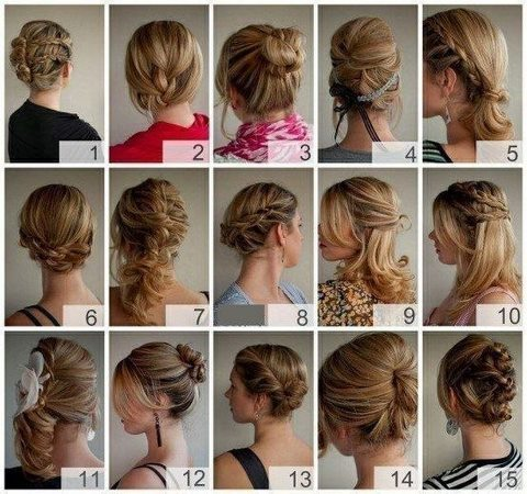 15 вариантов укладки волос