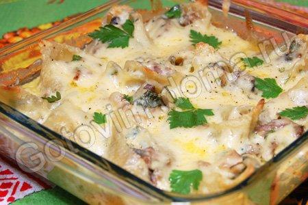 ракушки с фаршем в духовке рецепт с фото пошагово
