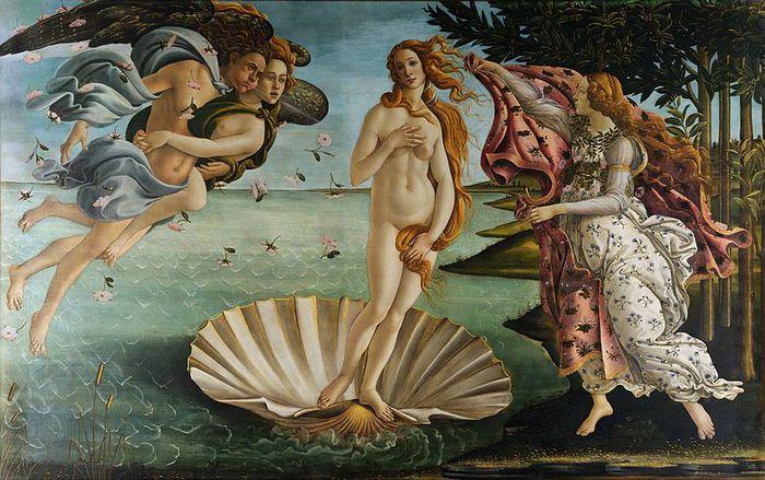 Боттичелли, Рождение Венеры (2) (700x439, 88Kb)