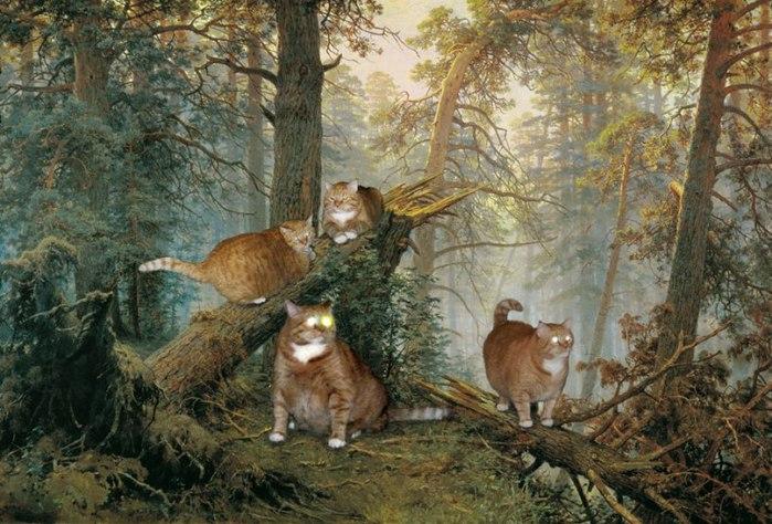 Шишкин, Утро в сосновом лесу (700x474, 107Kb)