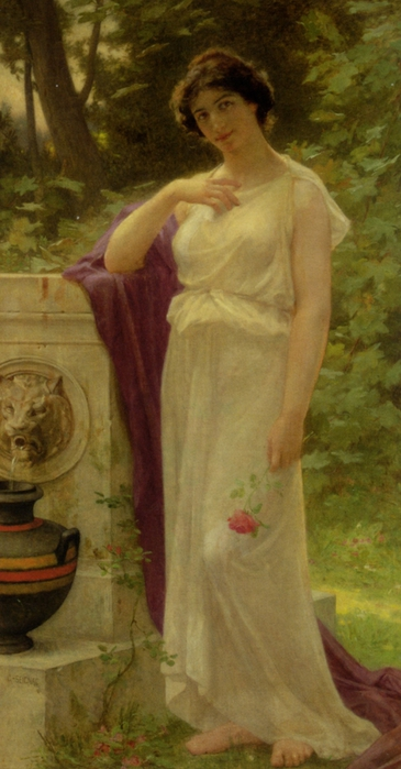 Young Woman with a Rose (365x700, 188Kb)
