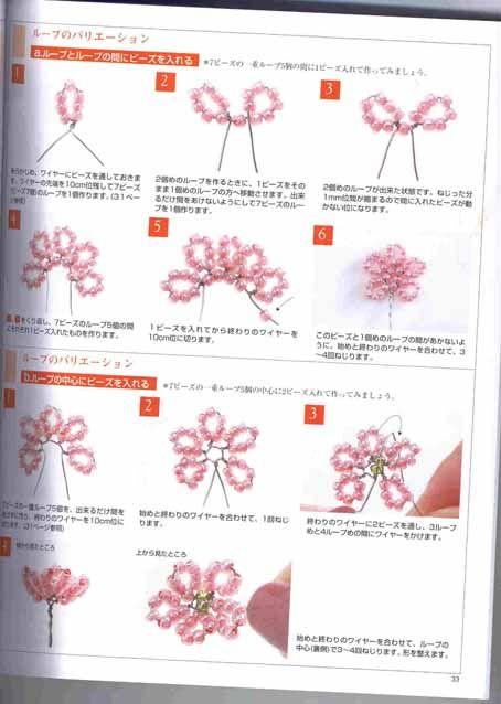 фуксия из бисера цветы из