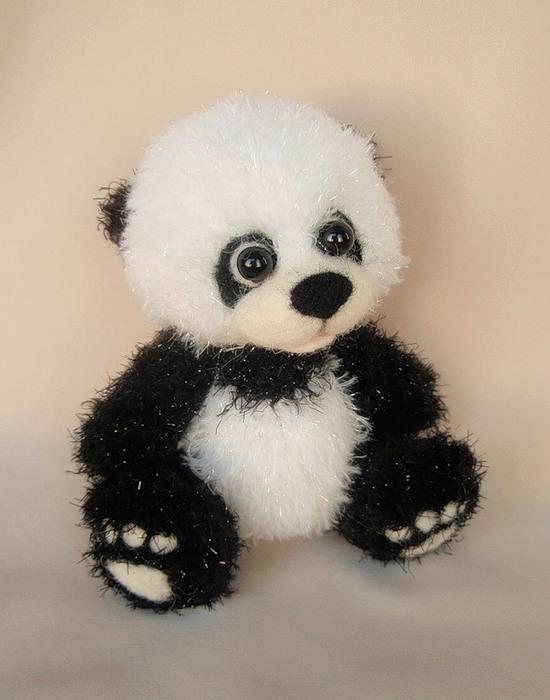 Схема вязания мишки панда 74