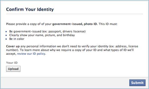Facebook и Instagram требуют паспортные фотографии