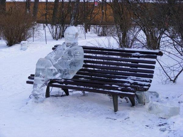 зима на скамейке (600x450, 66Kb)